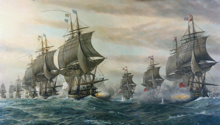Military Aviation Museum - Painting of the Battle of the Virginia Capes
